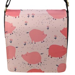 Pigs And Flowers Flap Messenger Bag (s)