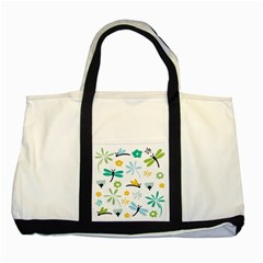 Busy Dragonflies Two Tone Tote Bag