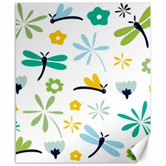 Busy Dragonflies Canvas 8  X 10