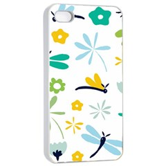 Busy Dragonflies Apple Iphone 4/4s Seamless Case (white)