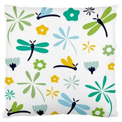 Busy Dragonflies Standard Flano Cushion Case (one Side)