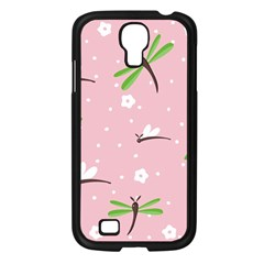 Dragonfly And White Flowers Pattern Samsung Galaxy S4 I9500/ I9505 Case (black)