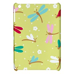 Colorful Dragonflies And White Flowers Pattern Apple Ipad Mini Hardshell Case
