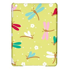 Colorful Dragonflies And White Flowers Pattern Ipad Air Hardshell Cases