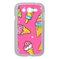 Summer Ice Creams Flavors Pattern Samsung Galaxy Grand Duos I9082 Case (white)