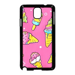 Summer Ice Creams Flavors Pattern Samsung Galaxy Note 3 Neo Hardshell Case (black)