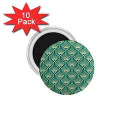 Green Fan  1 75  Magnets (10 Pack)