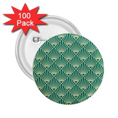 Green Fan  2 25  Buttons (100 Pack)
