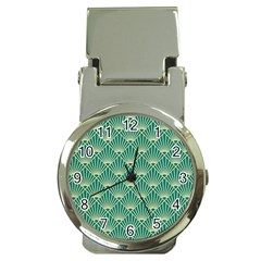 Green Fan  Money Clip Watches