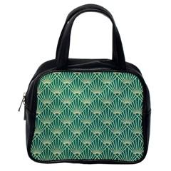 Green Fan  Classic Handbags (one Side)