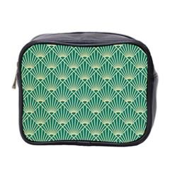 Green Fan  Mini Toiletries Bag 2 Side