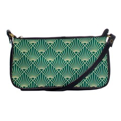 Green Fan  Shoulder Clutch Bags