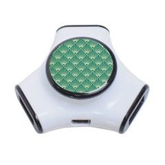 Green Fan  3 Port Usb Hub