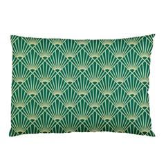 Green Fan  Pillow Case (two Sides)