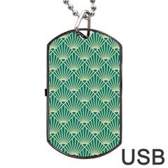 Green Fan  Dog Tag Usb Flash (two Sides)