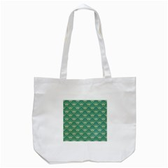 Green Fan  Tote Bag (white)