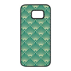 Green Fan  Samsung Galaxy S7 Edge Black Seamless Case