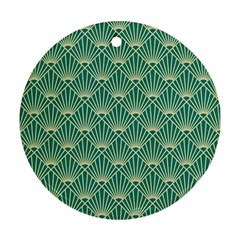Green Fan  Ornament (round)