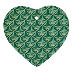 Green Fan  Ornament (heart)