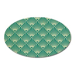 Green Fan  Oval Magnet