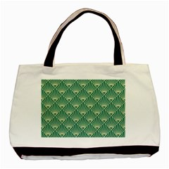 Green Fan  Basic Tote Bag (two Sides)