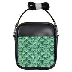 Green Fan  Girls Sling Bags