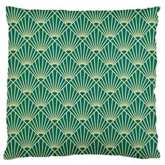 Green Fan  Large Cushion Case (two Sides)