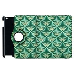 Green Fan  Apple Ipad 2 Flip 360 Case
