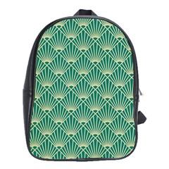 Green Fan  School Bag (xl)