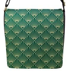Green Fan  Flap Messenger Bag (s)