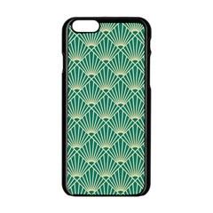 Green Fan  Apple Iphone 6/6s Black Enamel Case