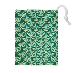 Green Fan  Drawstring Pouches (extra Large)