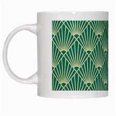 Green Fan  White Mugs