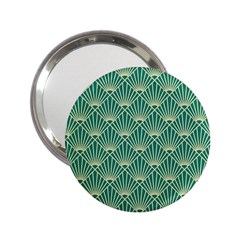 Green Fan  2 25  Handbag Mirrors