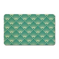 Green Fan  Magnet (rectangular)