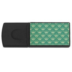 Green Fan  Rectangular Usb Flash Drive