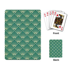 Green Fan  Playing Card