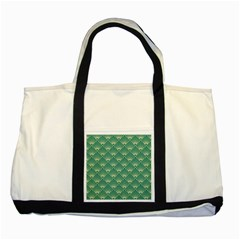 Green Fan  Two Tone Tote Bag
