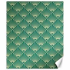 Green Fan  Canvas 8  X 10