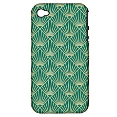 Green Fan  Apple Iphone 4/4s Hardshell Case (pc+silicone)