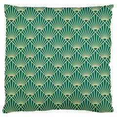 Green Fan  Standard Flano Cushion Case (one Side)