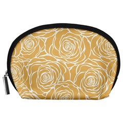 Yellow Peonines Accessory Pouches (large)