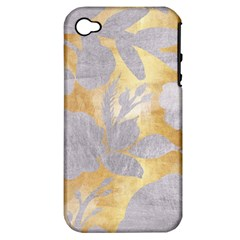 Gold Silver Apple Iphone 4/4s Hardshell Case (pc+silicone)