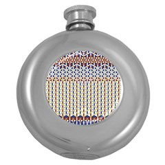 Flower Of Life Pattern 2 Round Hip Flask (5 Oz)