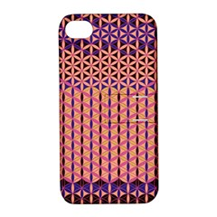 Flower Of Life Pattern 3 Apple Iphone 4/4s Hardshell Case With Stand