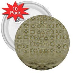 Shooting Stars Over The Sea Of Calm 3  Buttons (10 Pack)
