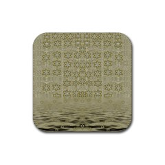 Shooting Stars Over The Sea Of Calm Rubber Square Coaster (4 Pack)