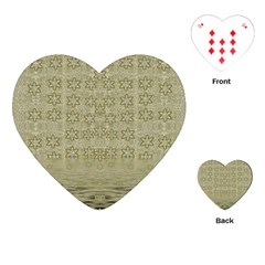 Shooting Stars Over The Sea Of Calm Playing Cards (heart)