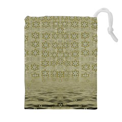 Shooting Stars Over The Sea Of Calm Drawstring Pouches (extra Large)
