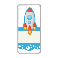 Rocket Spaceship Clip Art Clipart Apple Iphone 5c Seamless Case (white)